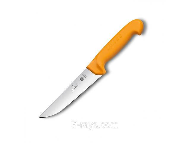купить бу Нож кухонный 14 см. универсальный с желтой ручкой Victorinox Swibo Butcher Wide 5.8421.14 в Дубні