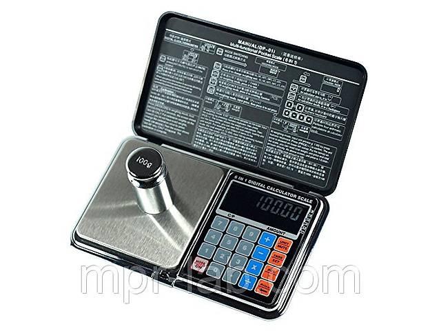 бу Весы цифровые мультифункциональные 6 в 1 Digital Pocket Scale Precision DP-01 (0,01/200 г) (Весы+калькулятор) в Дубні