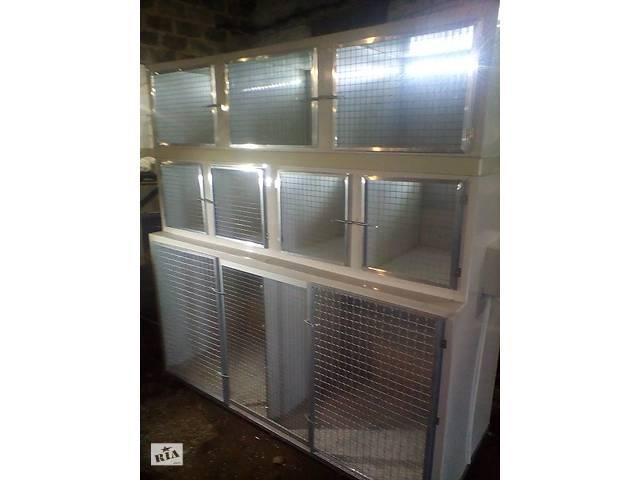 Ветеринарная клетка трёхъярусная с освещением и тёплым полом- объявление о продаже  в Запорожье