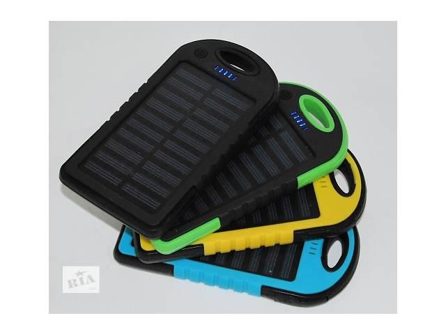 купить бу Внешний аккумулятор Solar Power Bank 20000 mAh с солнечной батареей 2 USB в Одессе