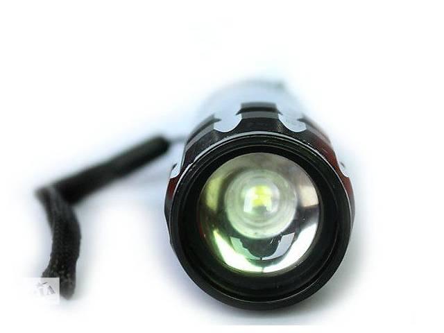 купить бу Водонепроникний міні чорний світлодіодний ліхтарик CREE Q5 2000 люмен в Бурштыне