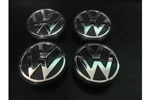 Volkswagen Bora 1998-2004 гг. Колпачки в титановые диски (4 шт) Оригинал, 56 мм (внутр.)
