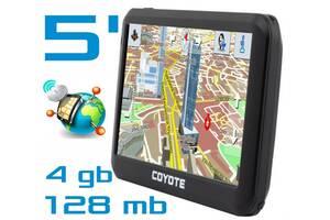 GPS навигатор COYOTE 528 MATE с экраном 5' 128mb/4Gb с картами навигации для грузового и легкового транспорта