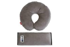 Комплект дорожный для сна велюровый Eternal Shield серый (4601234567848)
