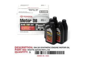 Оригинальное синтетическое моторное масло Toyota Motor Oil SAE 5w-20 0.946л