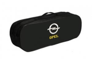 Сумка-органайзер для автомобилиста в багажник с двумя отделениями Poputchik Opel 50х18х17 см., черная