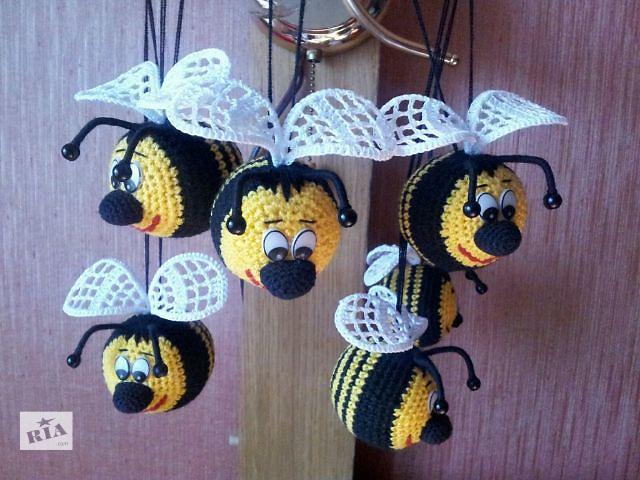 Вязанная игрушка.Пчелка Смайлик- объявление о продаже  в Харькове