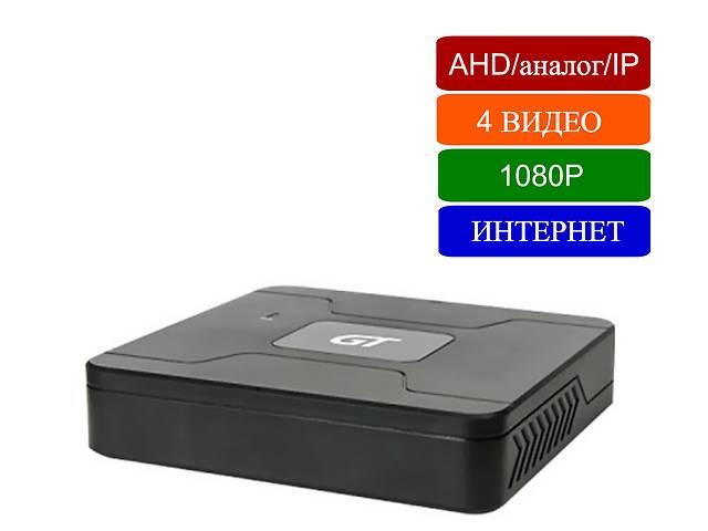 купить бу Видеорегистратор 4-канальный 2MP 1080p трибрид: AHD аналог IP в Киеве