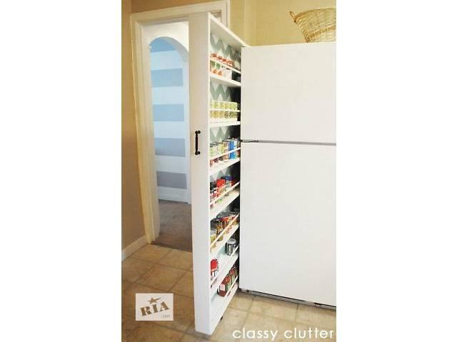 купить бу Выдвижная функциональная полка за холодильник в Киеве