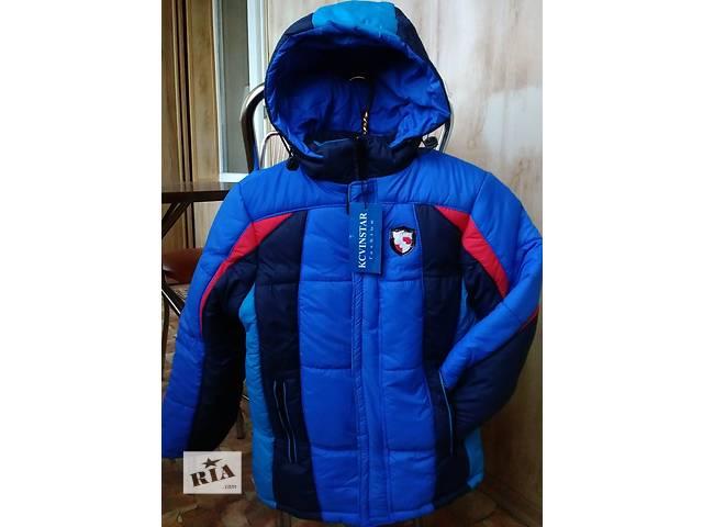 купить бу Яркая зимняя куртка на овчине на мальчика 6,7,8,9,10,11,12,13,14,15 лет в Мариуполе (Донецкой обл.)