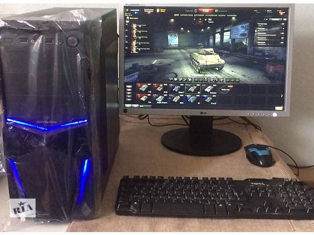 купить бу Игровой компьютер танки 4 ядра (i3, 4*3.1 GHz, 6 RAM; 1gb Video) + Монитор 22 в Киеве