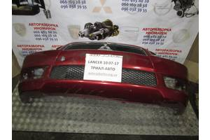 Б/у бампер передний для Mitsubishi Lancer X 2007-2015