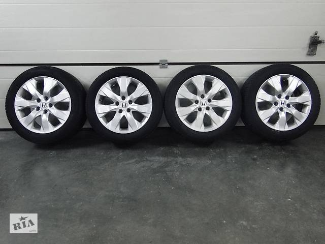 бу Б/у диски шины колеса для Honda Accord R17 ET 55 5x114.3 Dia 64.1 Kleber 225/50 R17 в Львове