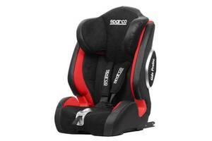 Детское автокресло универсальное от 9 месяцев до 12 лет ISOFIX - черно-красное (SPARCO) SPCF1000KI-RD