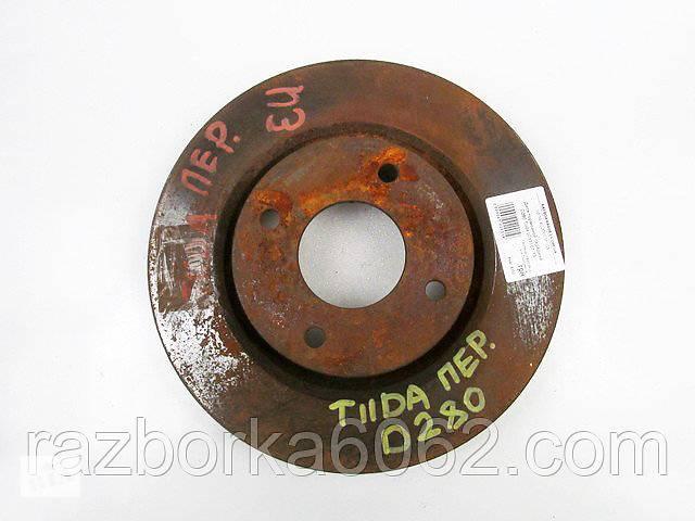 бу Диск тормозной передний D280 Nissan Tiida (C11) 07-13 (Ниссан Тиида Ц11)  40206EM10A в Киеве