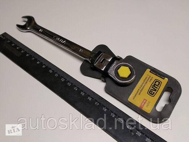купить бу Ключ рожково-накидной 13 мм СИЛА (202117) CrV/с трещеткой и шарниром в Киеве