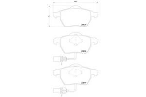 Тормозные колодки комплекты Audi A6