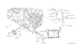 б/в патрубки охолодження Subaru Forester