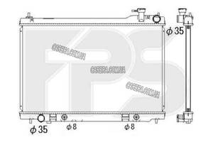 Радиатор INFINITI FX35/45 03-09