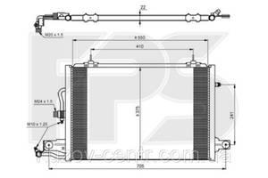 Радиатор кондиционера Ауди (Audi)DI 100 91-94/A6 94-98 (C4) производитель NISSENS
