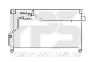 Радиатор кондиционера Mazda 626 92-97 (GE) SDN/HB/MX6 91-98 производитель FPS