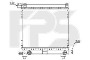 Радиатор охлаждения двигателя Mercedes 124 Мерседес 84-96 190 w201 , FP46A215 Fps