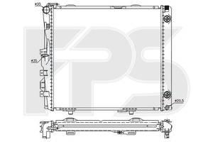 Радиатор охлаждения двигателя Mercedes 124 Мерседес 84-96 , FP46A211X Nissens
