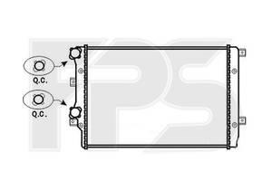 Радиатор охлаждения двигателя Skoda / VW / Seat / Audi (Koyorad) FP 62 A470-X