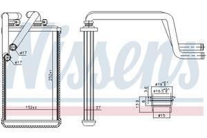 Радиатор печки NISSENS для Mitsubishi Outlander XL 3,0  2006 г.