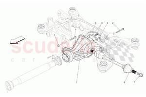 Редуктор моста б/у для  Maserati Levante 2016-