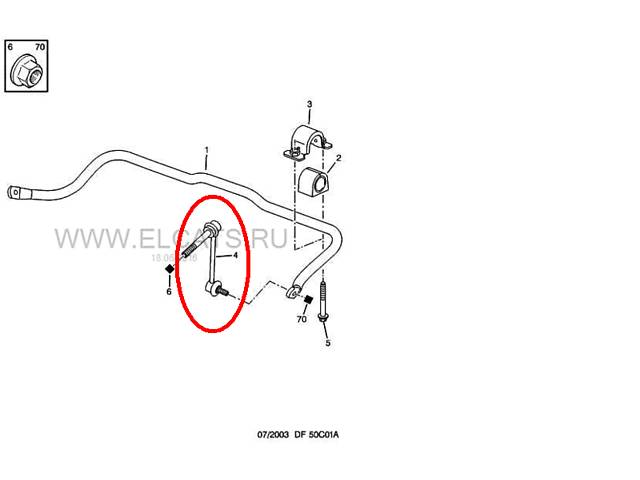 Стойка (тяга) переднего стабилизатора Пежо -407, Ситроен С5Х7, С6.- объявление о продаже  в Киеве