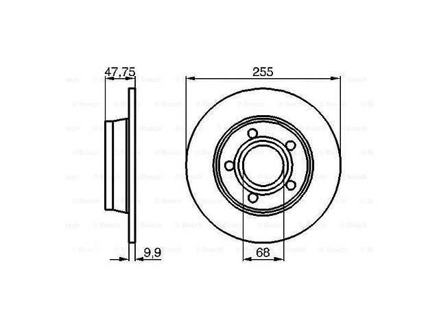 бу Тормозной диск AUDI A6 (4B2, C5) / AUDI ALLROAD (4BH, C5) / AUDI A6 Avant (4B5, C5) 1997-2005 г. в Одессе