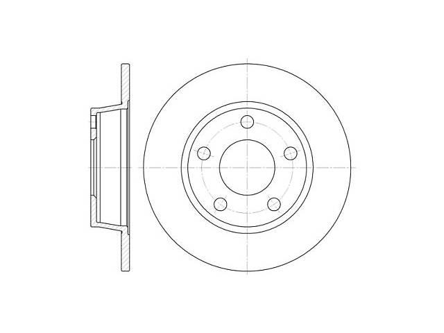 бу Тормозной диск HYUNDAI i30 (FD) / AUDI A6 (4B2, C5) / AUDI ALLROAD (4BH, C5) 1997-2012 г. в Одессе