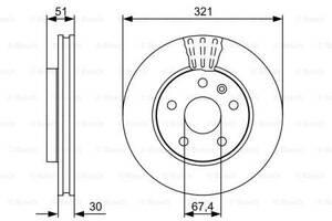 Тормозной диск  передний CHEVROLET MALIBU V300 2012- \ OPEL INSIGNIA A  2008-