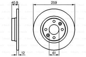 Тормозной диск  передний DACIA LOGAN  2004-\   DACIA LOGAN II  2012-.