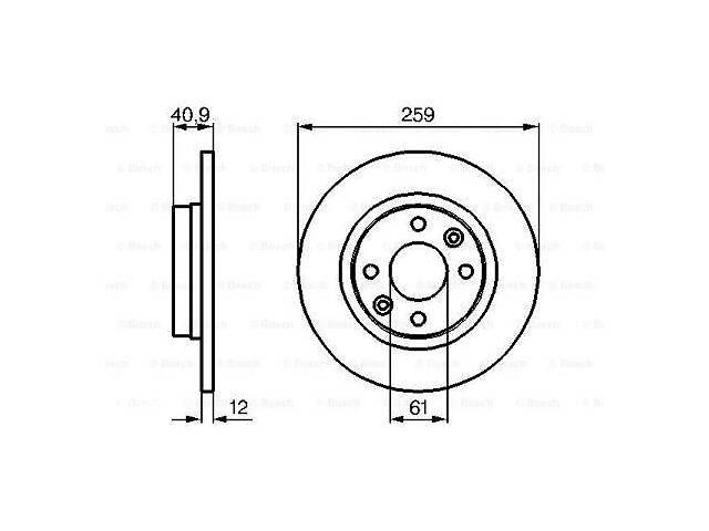 Тормозной диск  передний DACIA LOGAN  2004-\   DACIA LOGAN II  2012-.- объявление о продаже  в Одессе