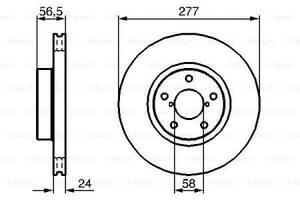 Тормозной диск  передний SUBARU BRZ 2012-   \   SUBARU FORESTER 1997-  \  SUBARU MPREZA  хетчбек 2008-