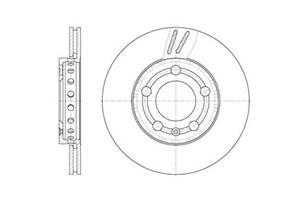 Тормозной диск VW POLO (9N_) / SKODA FABIA I (6Y2) / SKODA FABIA II (542) 1999-2015 г.