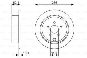 Тормозной диск задний SUBARU BRZ  2012-   \ SUBARU FORESTER SH 2008-  \ SUBARU IMPREZA  2008-