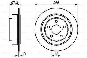 Тормозной диск  задний SUBARU FORESTER SF 1997-   \  SUBARU IMPREZA   1993-
