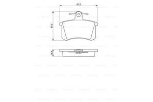 Тормозные колодки к-кт. AUDI 200 (43) / BRILLIANCE BS6 / AUDI A6 (4A2, C4) 1978-2015 г.