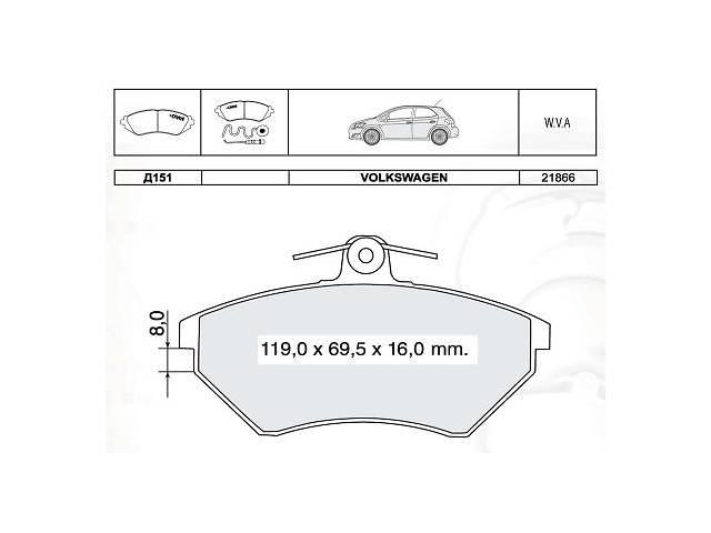 продам Тормозные колодки к-кт. VW POLO (6N1) / VW POLO (6N2) / VW VENTO (1H2) 1988-2009 г. бу в Одессе