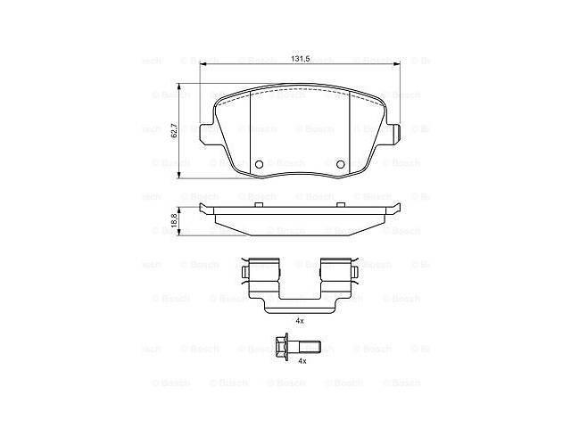 продам Тормозные колодки к-кт. VW POLO (9N_) / SEAT CORDOBA (6L2) 1995-2015 г. бу в Одессе