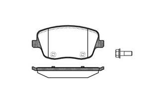 Тормозные колодки, к-кт. VW POLO (9N_) / SEAT CORDOBA (6L2) 1995-2015 г.