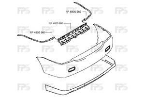 Усилители заднего/переднего бампера Mitsubishi Lancer