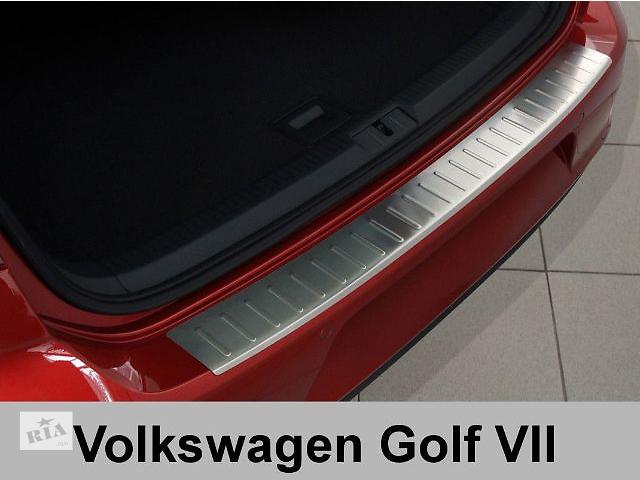 Защитная алюминиевая накладка на задний бампер с загибом Volkswagen Golf 7 (2012-...) Фольксваген Гольф 7- объявление о продаже  в Луцке