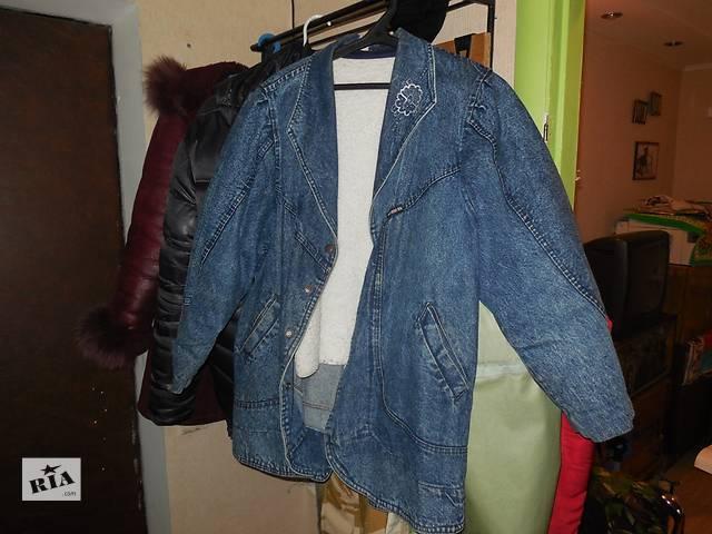 купить бу Женская джинсовая курточка с отстегивающийся подкладкой в Киеве