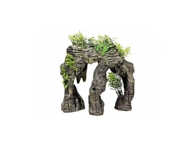Аквадекор камень с растениями 24,5х14х25 см Нобби 28155