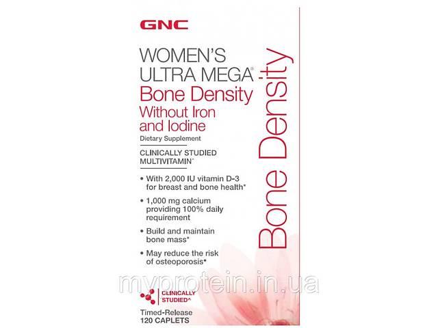бу GNC Вітаміни для дівчат Womens Ultra Mega Bone Density Without Iron and Iodine (120 caps) Art. mypr-350873830 в Харкові