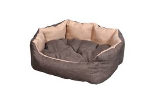 """Лежак для домашніх тварин Мур-Мяу """"Алегро Міні"""" Коричнево-бежевий (hub_cLvL0997855)"""